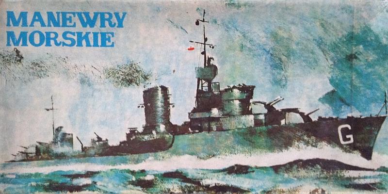 pudełko gry planszowej Manewry Morskie