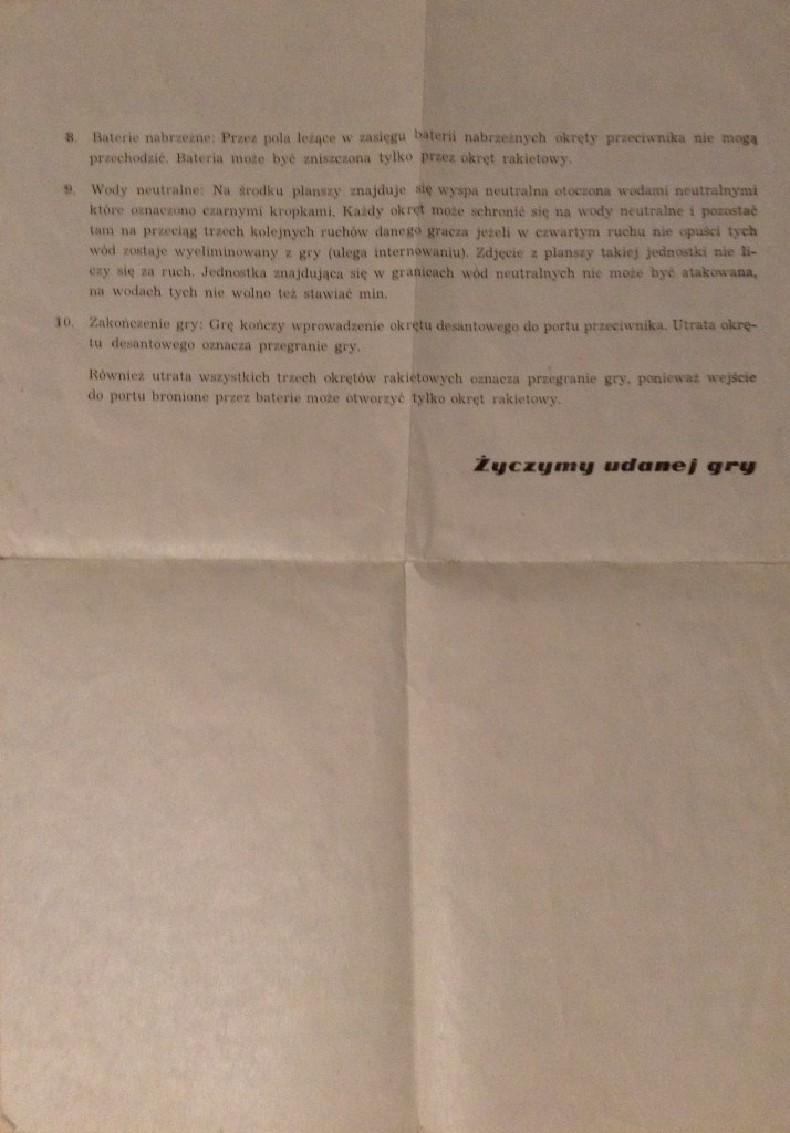 gra Manewry Morskie instrukcja strona 2-zdjęcie oryginału