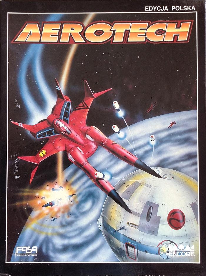 Pudełko gry planszowej Aerotech wydanej przez Wydawnictwo Encore