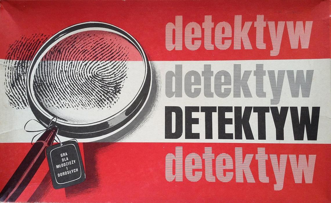 """Pudełko gry planszowej """"Detektyw"""" (polskiego klonu """"Clue"""") wydanej przez Wydawnictwo ELLERT i Spóldzielnię Rzemieśniczą Otwock"""