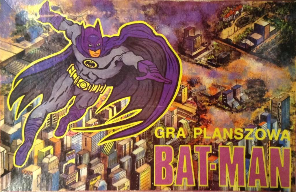 Pudelko gry planszowej Bat-Man, wydanej przez Wydawnictwo Ertrob