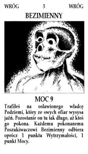 karta Bezimienny z gry planszowej Magia i Miecz, rozszerzenie Podziemia