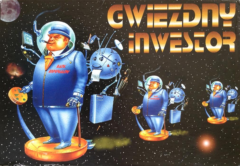 Pudełko gry planszowej Gwiezdny Inwestor wydawnictwa Federacja Konsumentów