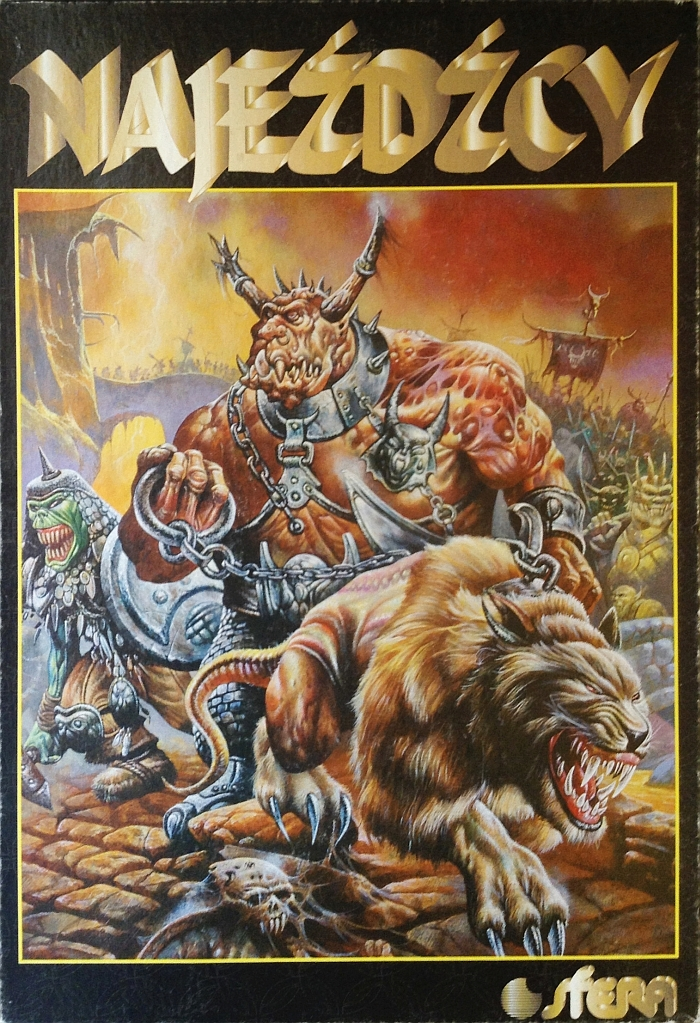 Pudełko gry planszowej Najeźdźcy wydawnictwa Sfera