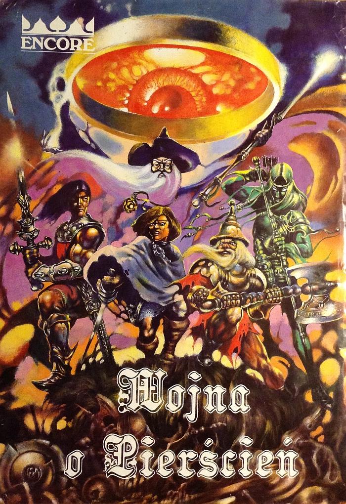 Okładka broszurowego wydania gry planszowej Wojna o Pierścień Wydawnictwa Encore