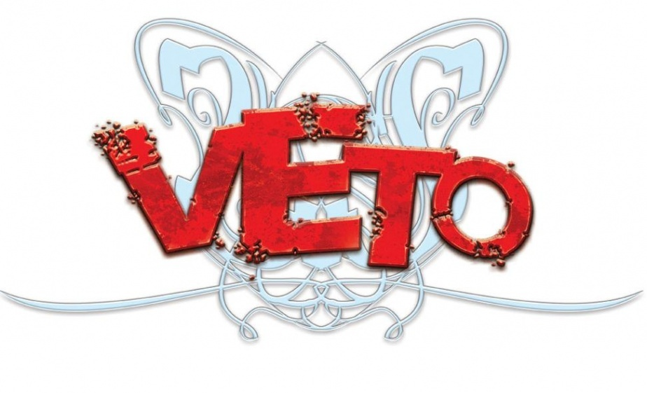 logo gry karcianej CCG Veto druga edycja