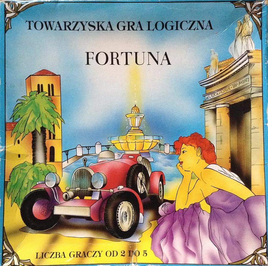 Pudełko gry planszowej Fortuna wydanej przez firmę Handlopol